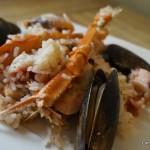 Receta de Arroz con mariscos y leche de coco