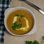 Crema de calabaza con curry y leche de coco (Solo 5 ingredientes)
