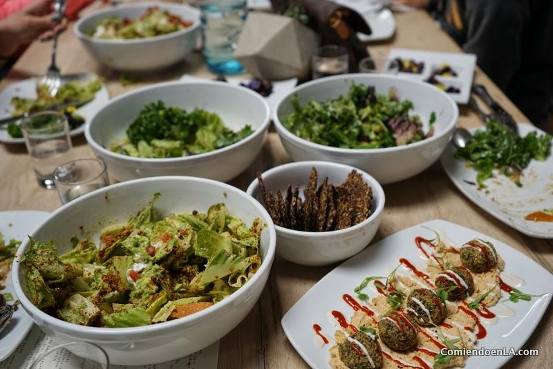 The Springs en Arts District ofrece un menú vegano con mucho color