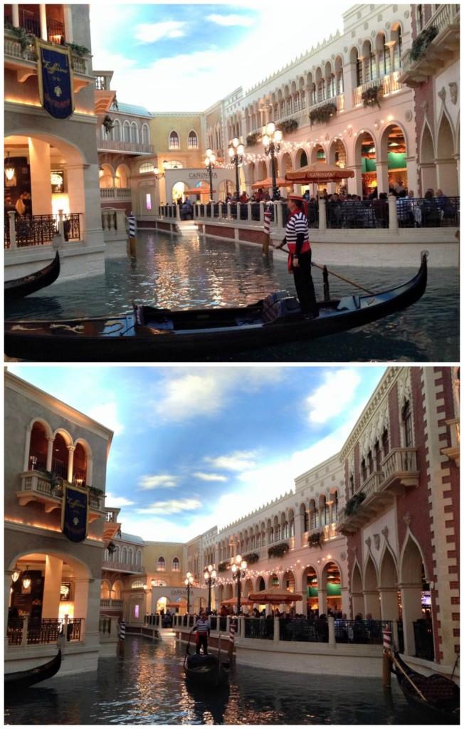 The Venetian hotel  en Las Vegas