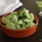 Ensalada de papas verdes