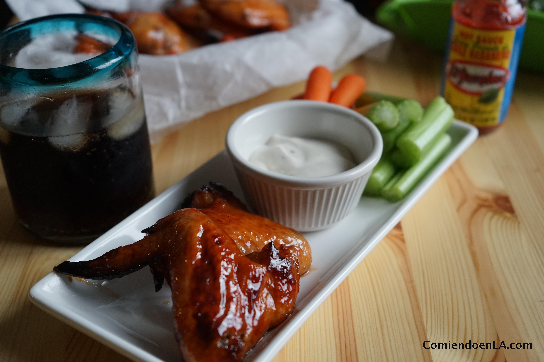 Alitas de pollo en salsa picante
