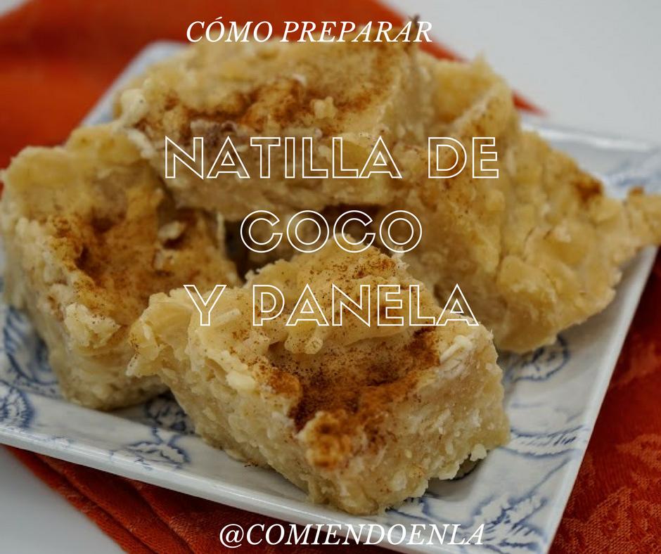 Receta de Natilla de Coco y Panela