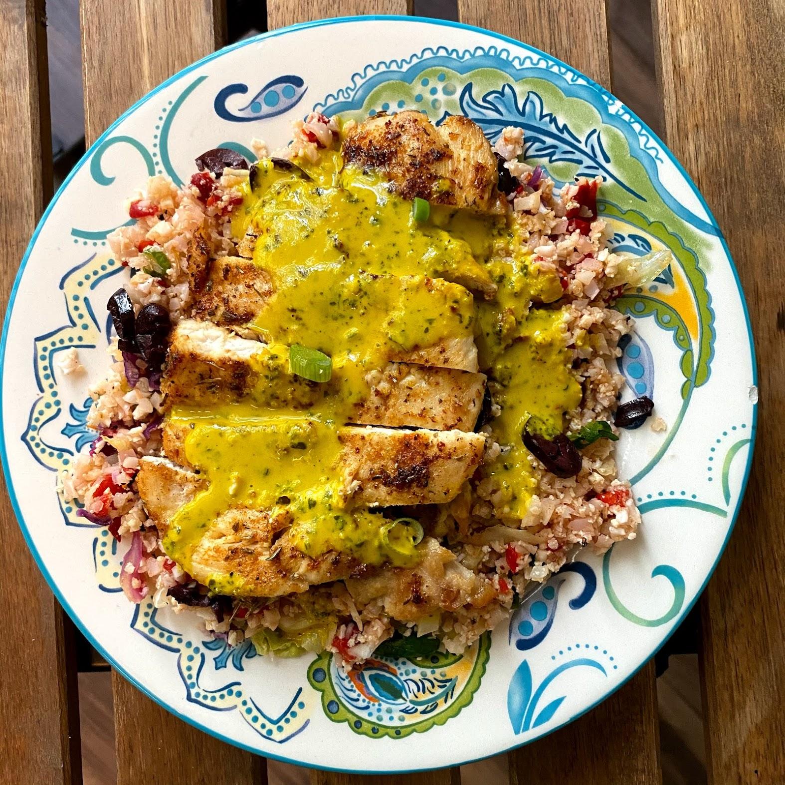 Pollo al estilo peruano con chimichurri
