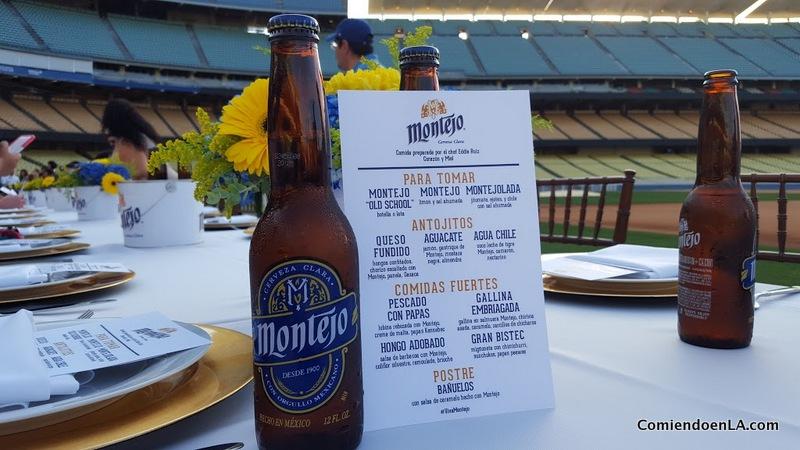 Cena privada en el estadio de los Dodger con Montejo y Corazón y Miel